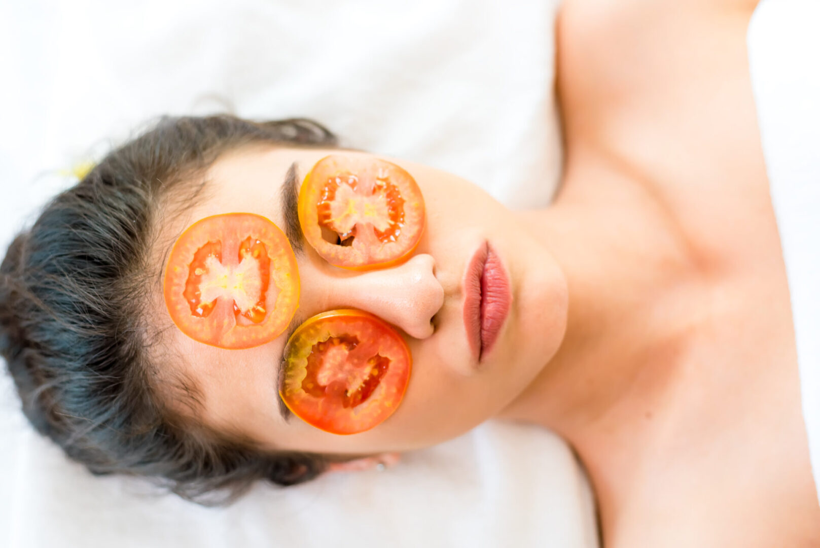 Skin and tomatoes
